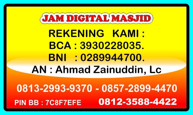 Rekening Jadwal Sholat Digital